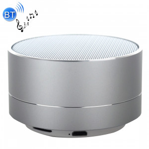 A10 Mini haut-parleur stéréo portable Bluetooth, avec micro et LED intégrés, prise en charge des appels mains libres et carte TF, Bluetooth Distance: 10 m (argent) SH350S923-20