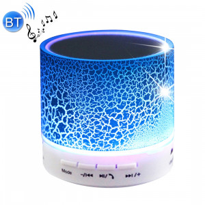 A9 Mini haut-parleur stéréo portable Bluetooth, avec micro et LED intégrés, prise en charge des appels mains libres et carte TF & AUX IN, Bluetooth Distance: 10 m (bleu) SH351L1646-20