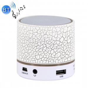 A9 Mini haut-parleur stéréo portable Bluetooth, avec micro et LED intégrés, prise en charge des appels mains libres et carte TF & AUX IN, Bluetooth Distance: 10 m (blanc) SH351W480-20