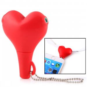 1 mâle à 2 femelles 3.5mm jack plug multi-fonction en forme de coeur écouteur audio splitter adaptateur audio avec porte-clés pour iPhone, iPad, iPod, Samsung, Xiaomi, HTC et autres produits numériques de l'interface S1880R1162-20