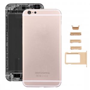 iPartsAcheter 5 en 1 pour iPhone 6s Plus (couverture arrière + porte-cartes + touche de contrôle du volume + bouton d'alimentation + touche de vibreur interrupteur muet) pleine couverture de boîtier d'assemblage SI13JL1822-20