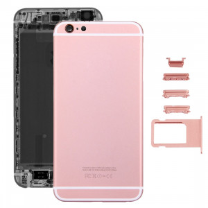 iPartsAcheter 5 en 1 pour iPhone 6s Plus (couverture arrière + porte-cartes + touche de contrôle du volume + bouton d'alimentation + touche de vibreur interrupteur muet) couvercle du boîtier Assemblée complète (or SI3RGL523-20