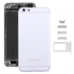 iPartsAcheter 5 en 1 pour iPhone 6s Plus (couverture arrière + porte-cartes + clé de contrôle du volume + bouton d'alimentation + touche de vibreur interrupteur muet) couvercle du boîtier Assemblée complète (argent) SI13SL836-20