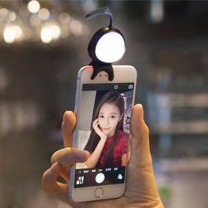 Pour Smart Phone Self Light avec crochet, Pour iPhone, Galaxy, Huawei, Xiaomi, LG, HTC et autres téléphones intelligents (Noir) SH114B743-20