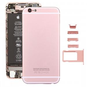 iPartsAcheter 5 en 1 pour iPhone 6s (couverture arrière + plateau de carte + touche de contrôle du volume + bouton d'alimentation + touche de vibreur interrupteur muet) couvercle du boîtier Assemblée complète (or SI6RGL27-20