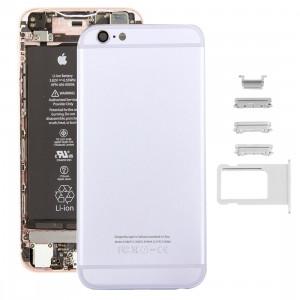 iPartsAcheter 5 en 1 pour iPhone 6s (couverture arrière + plateau de carte + touche de contrôle du volume + bouton d'alimentation + touche de vibration du commutateur de mise en sourdine) couvercle du boîtier de SI36SL1061-20