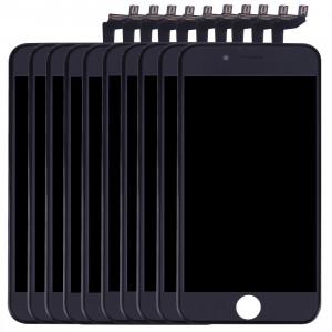 10 PCS iPartsAcheter 3 en 1 pour iPhone 6s (LCD + Frame + Touch Pad) Assemblage de numériseur (Noir) S187BT1142-20