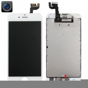 iPartsBuy 4 en 1 pour iPhone 6s (caméra frontale + LCD + cadre + pavé tactile) Assemblage de numériseur (blanc) SI960W1154-20