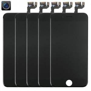 5 PCS iPartsAcheter 4 en 1 pour iPhone 6s (caméra frontale + LCD + cadre + pavé tactile) Assemblage de numériseur (noir) S513BT1445-20