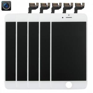 5 PCS iPartsAcheter 4 en 1 pour iPhone 6s (caméra frontale + LCD + cadre + pavé tactile) Assembleur de numériseur (blanc) S513WT1674-20