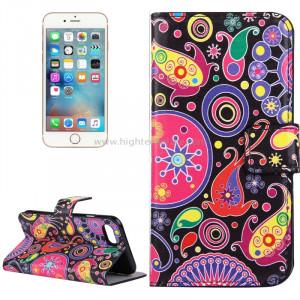 Pour iPhone 8 et 7 Acaleph Pattern Étui en cuir avec porte-cartes et fentes pour cartes et porte-monnaie SP006A0-20