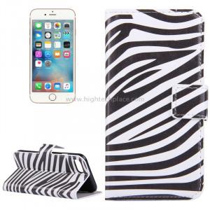 Pour iPhone 8 et 7 Zebra Stripes Pattern Étui en cuir avec porte-cartes et fentes pour cartes et porte-monnaie SP006E5-20