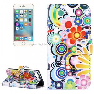 Pour iPhone 8 et 7 Fireworks Pattern Étui en cuir avec porte-cartes et fentes pour cartes et porte-monnaie SP006P9-20