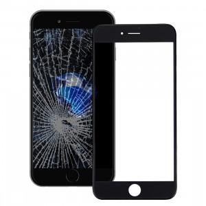 iPartsAcheter pour iPhone 7 Écran Avant Lentille En Verre Extérieur avec Cadre Avant Cadre LCD (Noir) SI625B1049-20