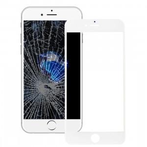 iPartsAcheter pour l'iPhone 7 Lentille extérieure en verre d'écran avant avec le cadre avant de cadre d'écran d'affichage à cristaux liquides et l'adhésif optiquement clair d'OCA (blanc) SI500W1258-20