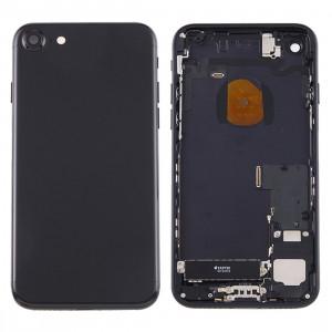 iPartsBuy pour iPhone 7 couvercle de la batterie arrière avec plateau de carte (Jet Black) SI1BBL999-20