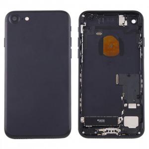 iPartsBuy pour iPhone 7 couvercle de la batterie arrière avec le plateau de la carte (noir) SI41BL1483-20