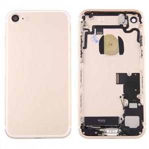 iPartsAcheter pour iPhone 7 couvercle de la batterie arrière avec le plateau de la carte (Gold) SI41JL214-20
