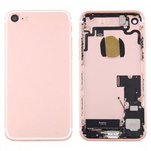 iPartsBuy pour iPhone 7 couvercle de la batterie arrière avec plateau de carte (or rose) SI1RGL784-20