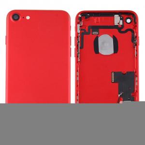 iPartsBuy pour iPhone 7 couvercle de la batterie arrière avec le plateau de la carte (rouge) SI41RL244-20