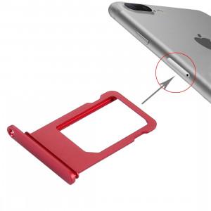 iPartsBuy pour le plateau de carte d'iPhone 7 Plus (rouge) SI159R677-20