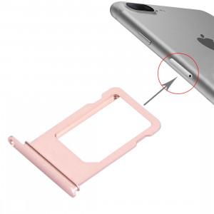 iPartsBuy pour le plateau de carte d'iPhone 7 Plus (or rose) SI59RG1000-20