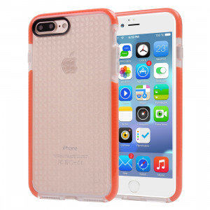 Pour iPhone 8 Plus & 7 Plus Dumbbell Texture Transparent TPU Housse de protection (Orange) SF342E795-20