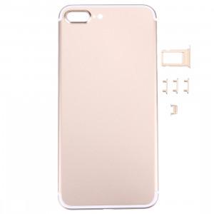 iPartsAcheter 5 en 1 pour iPhone 7 Plus (couverture arrière + porte-cartes + touche de contrôle du volume + bouton d'alimentation + touche de vibreur interrupteur muet) pleine couverture de boîtier d'Assemblée SI471J989-20