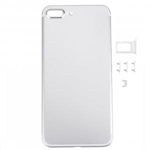 iPartsAcheter 5 en 1 pour iPhone 7 Plus (couverture arrière + porte-cartes + touche de contrôle du volume + bouton d'alimentation + touche de vibreur interrupteur muet) couvercle du boîtier Assemblée complète SI471S701-20