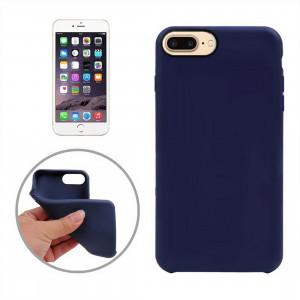 Pour étui de protection en TPU doux pour iPhone 8 Plus et 7 Plus Classic Surface lisse (Bleu foncé) SF011D919-20