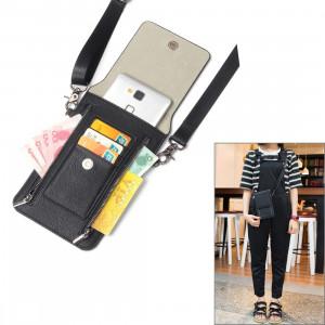 6,3 pouces et ci-dessous Universal PU cuir sac à bandoulière double fermeture à glissière avec fentes pour cartes et portefeuille pour Sony, Huawei, Meizu, Lenovo, ASUS, Cubot, OnePlus, Dreami, Oukitel, Xiaomi, Ulefone, S6382B1026-20