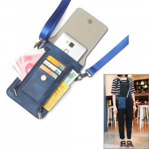 6,3 pouces et ci-dessous Universal PU cuir sac à bandoulière double fermeture à glissière avec fentes pour cartes et portefeuille pour Sony, Huawei, Meizu, Lenovo, ASUS, Cubot, OnePlus, Dreami, Oukitel, Xiaomi, Ulefone, S6382D842-20