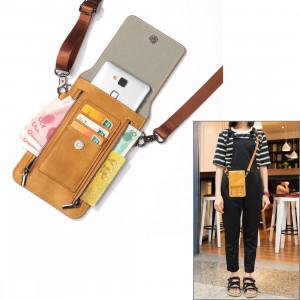 6,3 pouces et ci-dessous Universal PU cuir sac à bandoulière double fermeture à glissière avec fentes pour cartes et portefeuille pour Sony, Huawei, Meizu, Lenovo, ASUS, Cubot, OnePlus, Dreami, Oukitel, Xiaomi, Ulefone, S6382Z45-20