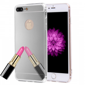 Pour iPhone 8 Plus et 7 Plus galvanoplastie miroir TPU Housse de protection (Argent) SF500S1950-20