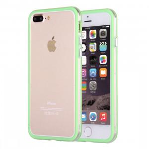 Pour cadre de pare-chocs combiné pour iPhone 8 Plus et 7 Plus TPU + PC (vert) SF102G158-20