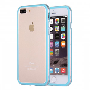 Pour cadre de pare-chocs combiné pour iPhone 8 Plus et 7 Plus TPU + PC (bleu) SF102L236-20