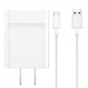 Huawei Fast Charge 9V2A / 5V2A unique port USB, 100-240 V de large tension, prise américaine, pour iPad, iPhone, Galaxy, Huawei, Xiaomi, LG, HTC et autres téléphones intelligents, appareils rechargeables (Blanc) SH613W1455-20