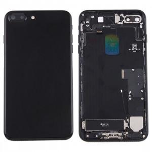 iPartsAcheter pour iPhone 7 Plus Batterie couvercle arrière avec bac à cartes (Jet Black) SI2BBL945-20