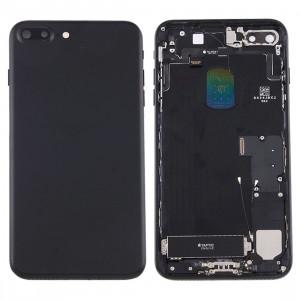 iPartsAcheter pour iPhone 7 Plus Batterie couvercle arrière avec bac à cartes (Noir) SI42BL1257-20