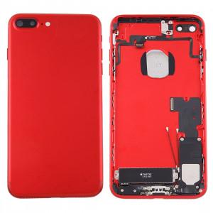 iPartsAcheter pour iPhone 7 Plus Batterie couvercle arrière avec plateau de carte (rouge) SI42RL1069-20