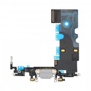 iPartsBuy pour iPhone 8 Câble de Port de Charge (Argent) SI19SL777-20
