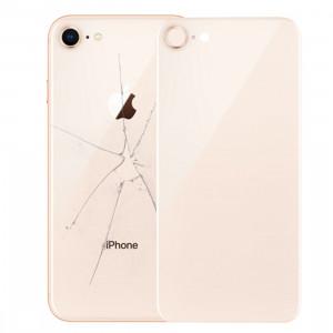 iPartsBuy pour iPhone 8 couverture arrière avec adhésif (or) SI01JL1170-20