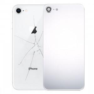 iPartsAcheter pour iPhone 8 Couverture arrière avec adhésif (Argent) SI01SL293-20