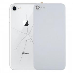 iPartsBuy pour iPhone 8 couverture arrière avec adhésif (blanc) SI01WL1819-20