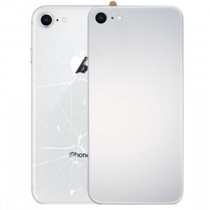 iPartsAcheter pour iPhone 8 Verre Miroir Surface Batterie Couverture Arrière (Argent) SI66SL1036-20