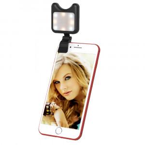 APEXEL APL-FL01 objectif de caméra de téléphone universel Selfie LED remplir la lumière avec Clip, pour iPhone, Samsung, Huawei, Xiaomi, HTC et autres smartphones (Noir) SA568B574-20