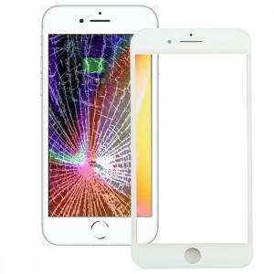 iPartsAcheter pour iPhone 8 Lentille extérieure en verre avec écran frontal Cadre LCD et OCA Optically Clear Adhesive (Blanc) SI666W113-20