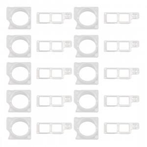 10 Ensembles iPartsBuy pour iPhone 8 Lunette de caméra de face avant + support de fixation de capteur S17311790-20