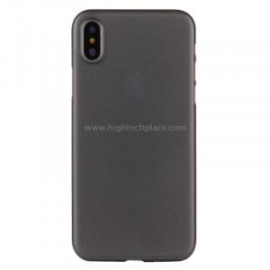 Pour iPhone X PP Housse de protection arrière (noir) SP452B1-20