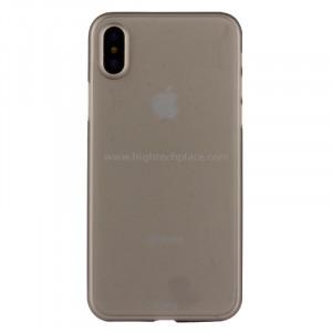 Pour iPhone X PP Housse de protection arrière (Gris) SP452H2-20